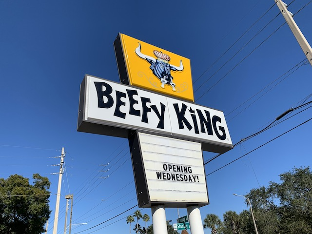 Beefy reopen sign