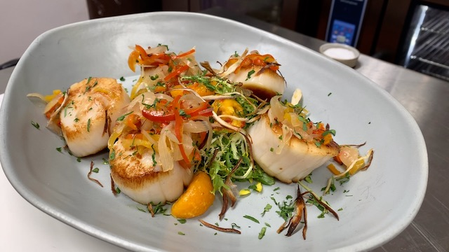 Scallops Agrodolce