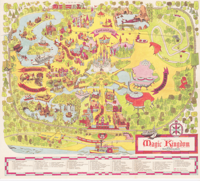 Magic Kingdom map menu