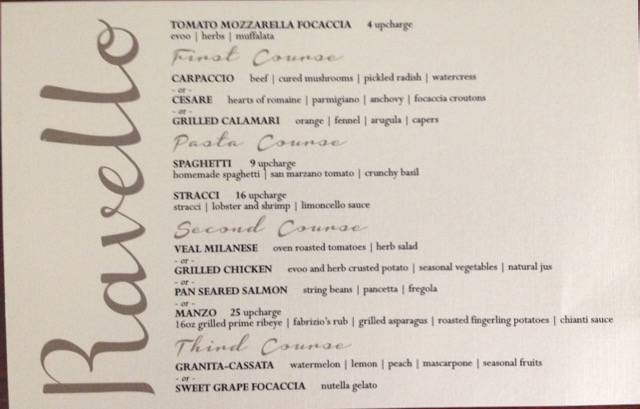 Ravello Menu photo