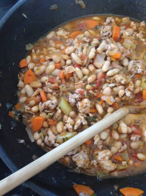 White beans  provencale